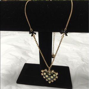 Betsy Johnson heart iconic necklace! Nearly new!